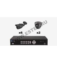 Комплект для склада из 8 камер видеонаблюдения