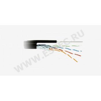 FTP 5E(4 пары) Ship outdoor+support wire, AWG24, 305м, уличный с тросом