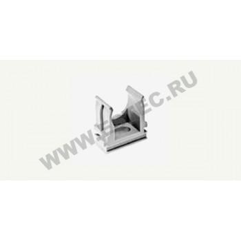 Крепеж-клипса для металлорукавов, гофрированных и гладких труб, 25 мм (100 шт./уп.)
