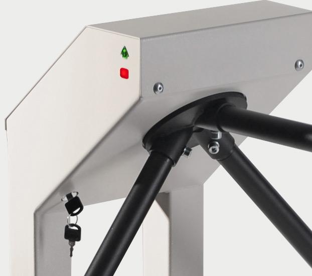 Механическая разблокировка турникета-трипода PERCo-T-5 ключом